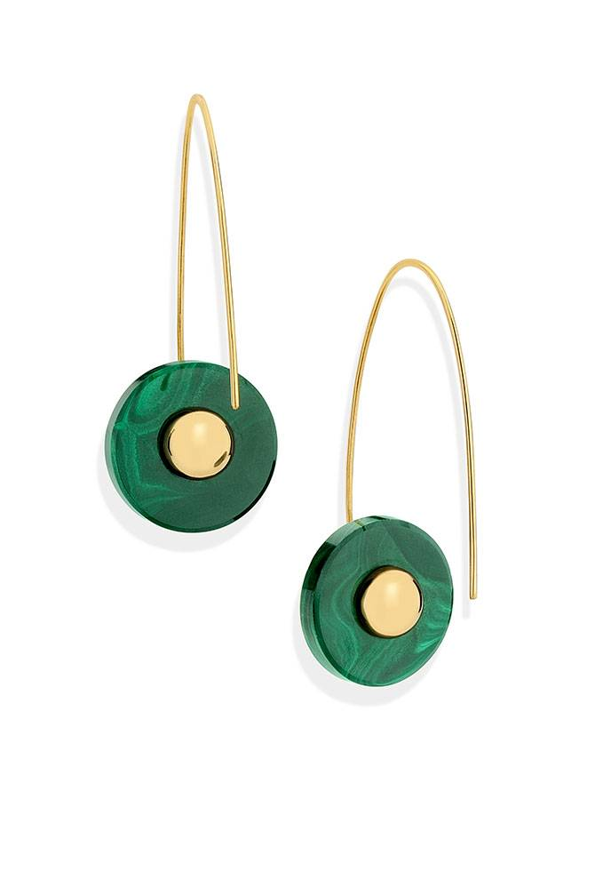 Yael Sonia malachite earrings
