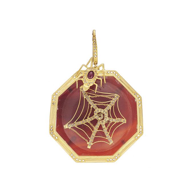 Coomi spider pendant