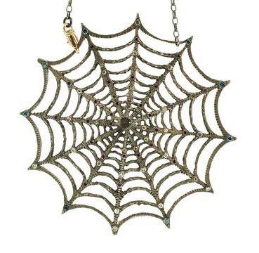 Alp Sagnak spider necklace