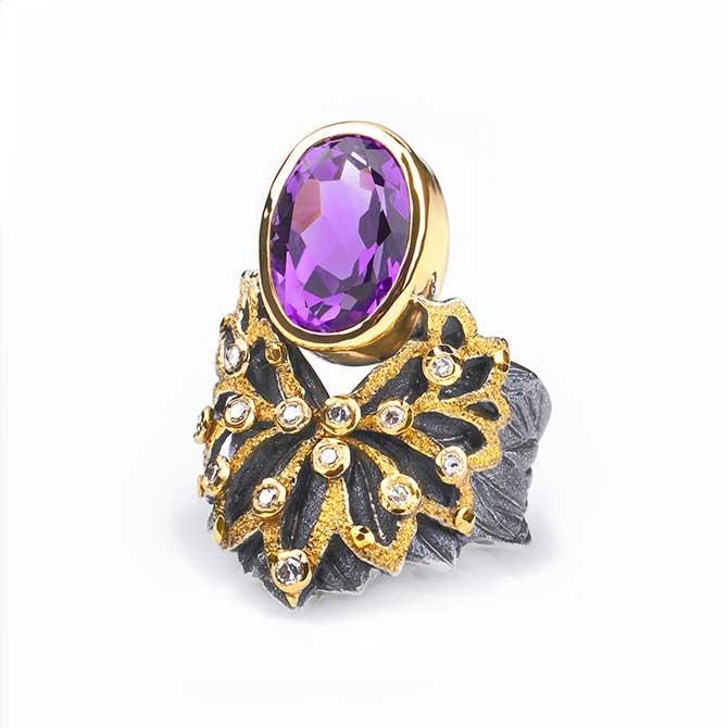 Margisa Fern Flower ring